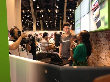 Breadcrumb founder Seth Harris talks shop at our booth, #9510